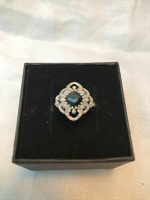 9ct White Gold And Sapphire Ring Size M  • 39£