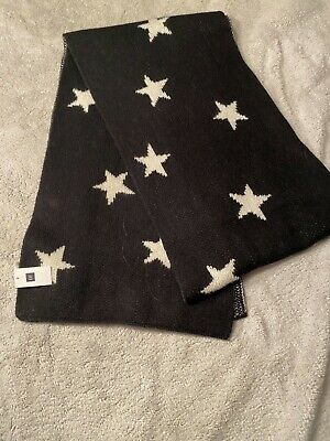 Gap Black Scarf With White Stars • 4£