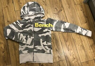 Bench Hoodie Size Small, Khaki With Zip • 3£