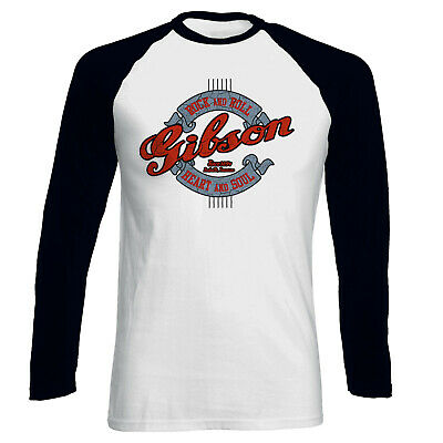 £17.99 • Buy Gibson Rock And Roll Heart And Soul Men Baseball T-shirt