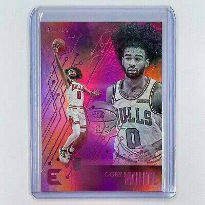 AU15 • Buy 2019-20 Nba Panini Chronicles Coby White Essentials Pink Rookie Card