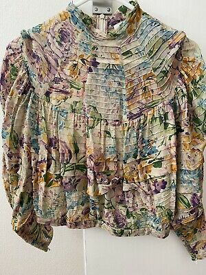 AU86 • Buy Zimmerman Cropped Pintucked Blouse - Size 0