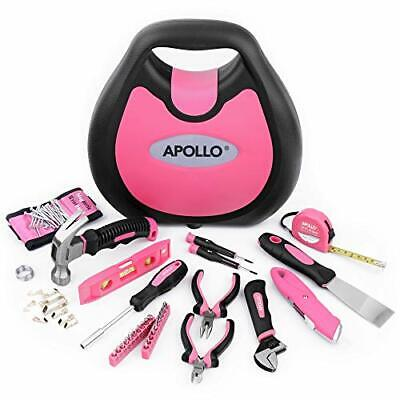 Apollo 72 Piece Home DIY Ladies Pink Tool Kit Set In A Handbag Case. All Purpose • 44.99£