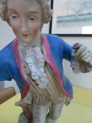 Large French Bisque Figure Of A Man • 15£