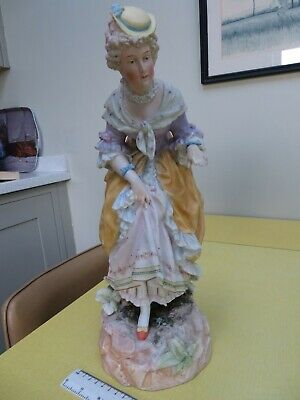 Large French Bisque Figure Of A Lady • 45£