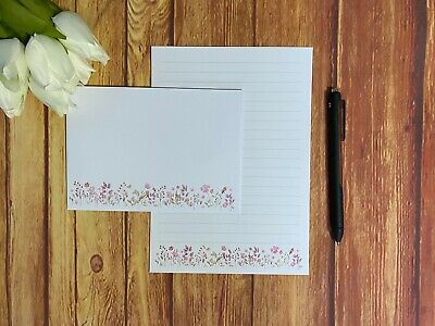 £4.50 • Buy Pink Wildflower Writing Paper And Envelopes, 10 Sheets & 5 Envelopes, Letter Set