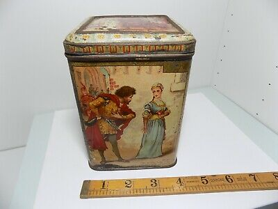 W.R Jacob Dublin Faust Biscuit TIn C1890s  • 43£
