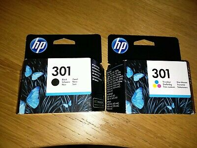 HP 301 Black + 301 Tri-colour 2-Pack Printer Inks. GENUINE, BOXED AND SEALED. • 22£