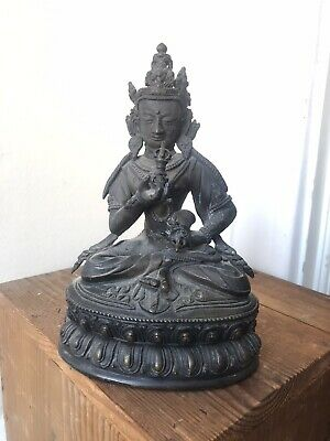 Antique Chinese Or Tibetan Bronze Buddha, Exact Age Unknown • 12.15£
