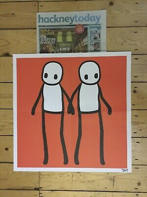 Red Stik Hackney Today Poster Mint Condition • 100£