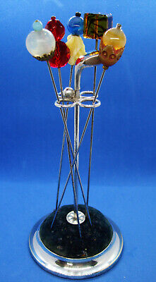 Vintage Silver-plated 'Golf-Themed' HAT PIN HOLDER With FIVE VINTAGE HAT PINS. • 15£