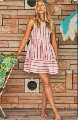 AU159 • Buy New Mister Zimi Olivia Mini Dress- Pink Stripe Sz 8 RRP $159 SOLD OUT In 1 Day!