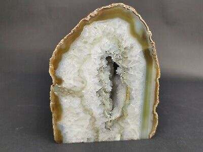 Quartz & Agate Rock Bookend Crystal Mineral Specimen Large • 29.99£