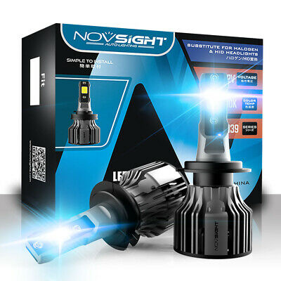 AU32.99 • Buy Novsight H7 LED Headlight Light Bulbs Hi/Lo Beam Replace Halogen 72W 10000LM HID