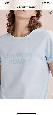 AU30 • Buy Country Road Small T Shirt Folded Sleeve Edition Pale Blue Brand New