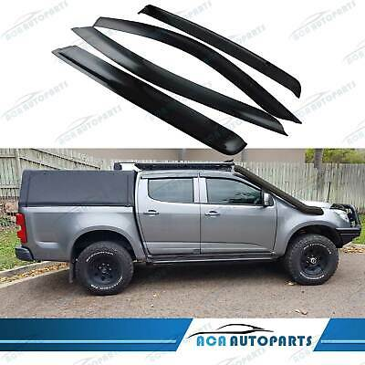 AU50 • Buy Weathershields Fit Holden Colorado RG LS LT LTZ Z71 Double Cab 2012-20 Wind Vent