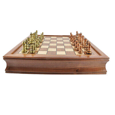 Professional Classical Chess Set King Soldier Metal Chessmen For 2 Players • 128.53£