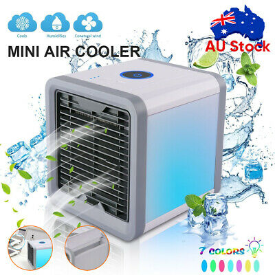 AU19.95 • Buy Portable Mini LED Air Cooler Fan Air Conditioner Cooling Humidifier Purifier AC