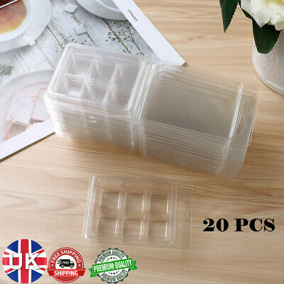 20x Plastic Wax Melt Clamshells Molds Wax Melt Containers For Wickless Candle • 7.79£