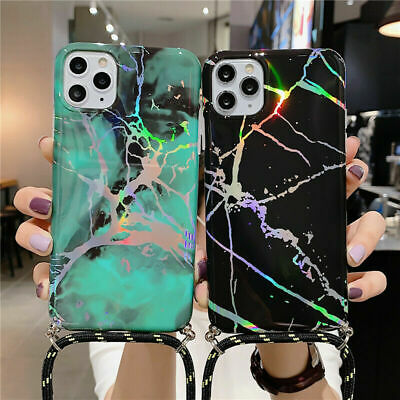 Luxury Marble Phone Case With Neck Lanyard Strap For IPhone 11 Pro Max 7 8 XR XS • 1.75£