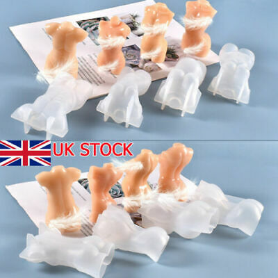 3D Body Candle Chocolate Baking Mold Silicone Wax Resin Casting Soap Mould Craft • 5.79£