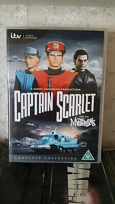 Captain Scarlet And The Mysterons Complete DVD Box Set   32 Episodes On 6 Discs • 7.50£