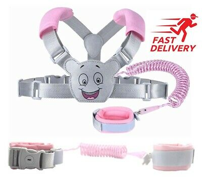 Baby Reins Walking Harness For Toddlers, Kids, Children, 3-in-1, Anti Lost Wrist • 16.45£