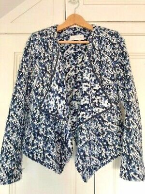 Maison De Nimes Waterfall Cardigan With Faux Leather Trim • 2£