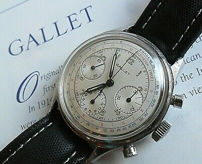 $ CDN738.80 • Buy Clean Vintage 1960's S/S Gallet 3 Register Swiss Chronograph Watch