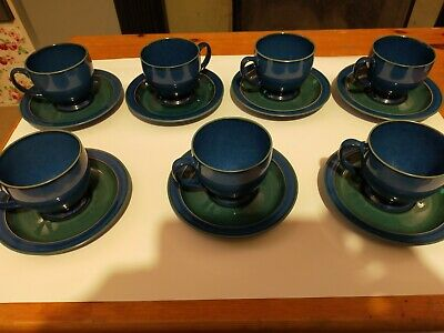 Denby Metz Blue And Green, CUP & SAUCER. Several Available All Excellent Cond... • 7.50£
