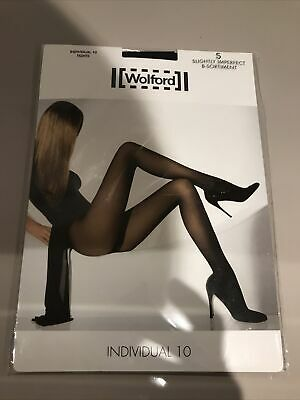 Wolford Individual 10 Tights Black Small New (Slightly Imperfect) • 3.70£
