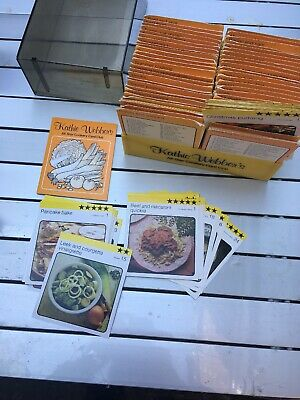 Kathie Webber's Recipe Box All Star Cookery Card Club Use Condition • 15£