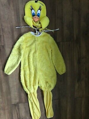 Child Tweety Bird Looney Tunes Girls Fancy Dress Book Week Costume Age 5-7 • 7£