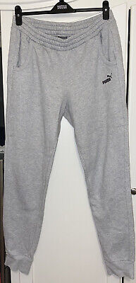 Puma Grey Tracksuit Bottoms Joggers With Pockets Womens Size 14 • 14.50£