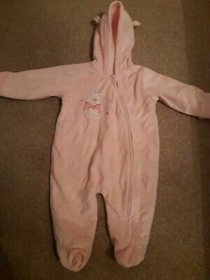 Baby Girls Disney Winnie The Pooh 0-3 Months Pink Snowsuit *immaculate Condition • 6.95£