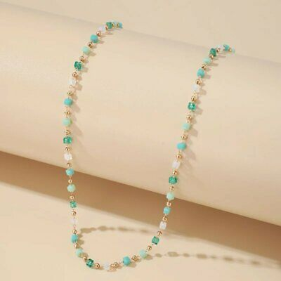AU2.53 • Buy Simple Boho Colorful Bead Choker Chain Necklace For Women Handmade Party Jewelry