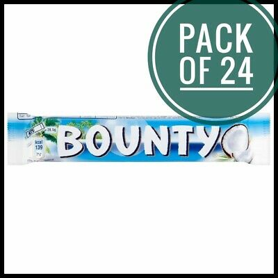 Bounty Milk Chocolate Bars 57G, Pack Of 24  • 13£