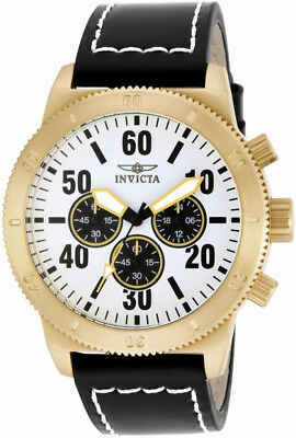 Invicta Specialty 16756 Men's Round White Analog Chronograph Leather Watch • 14.63£