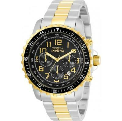 Invicta Specialty 30792 Men's Black Dial Two-Tone Chronograph Tachymeter Watch • 22.67£