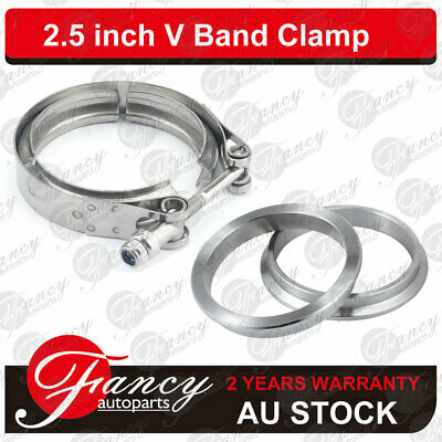 AU23.50 • Buy 2.5  Inch V-Band Stainless Steel Clamp Turbo Kit With 2 Flange Exhaust Down Pipe