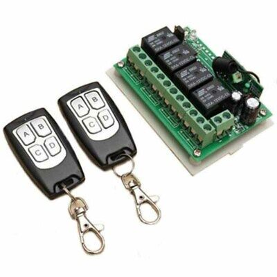 £6.99 • Buy 12V 4CH Channel 433Mhz Wireless Remote Control Switch 2 Transmitter + Receiver
