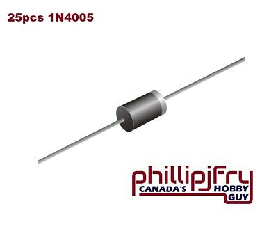 $ CDN1.87 • Buy 25pcs 1A 1000V Diode 1N4007 IN4007 DO-41 Rectifie Diodes New. Contact To Combine