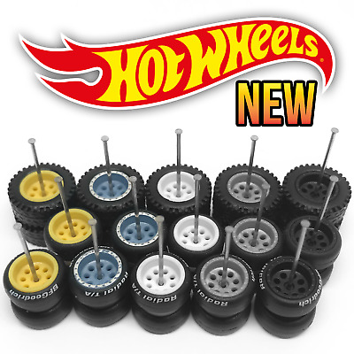 $ CDN8.74 • Buy Hot Wheels 8 HOLE OFFROAD Real Riders Wheels And Tires Set For 1/64 Scale Custom