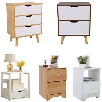 AU35.64 • Buy Bedside Table Wooden Nightstand Unit Drawer Lamp Side Storage Cabinet AU STOCK