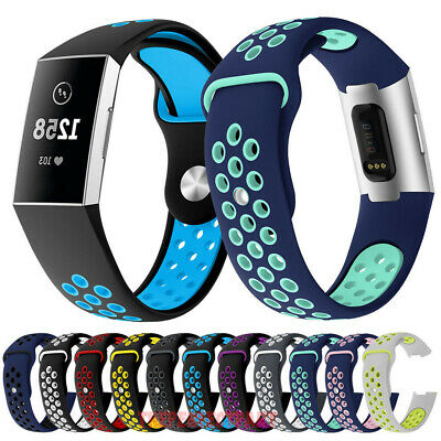 $ CDN3.80 • Buy Silicone Breathable Sports Watch Band Soft Strap Bracelet For Fitbit Charge 3 4