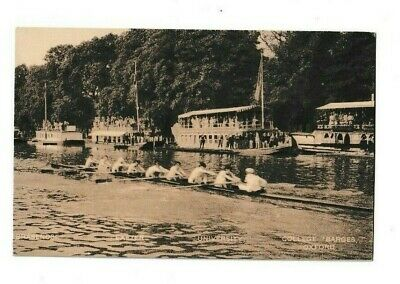 Postcard Of Rowing Eights Oxford Inclueding College Barges • 1.50£