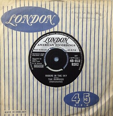THE RAMRODS 'Riders In The Sky/Zig Zag' London 45 • 2£