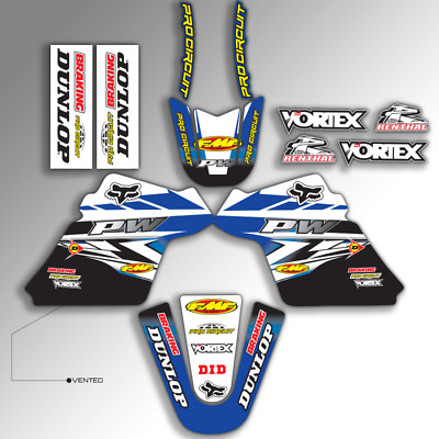 $ CDN36.27 • Buy 1990 - 2018 Yamaha Pw 50 Pw50 Graphics Kit Pro Circuit : Blue / Black Mx Decals