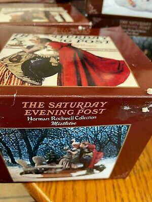 $ CDN6.38 • Buy Norman Rockwell Collection The Saturday Evening Post Figurines~ MISTLETOE