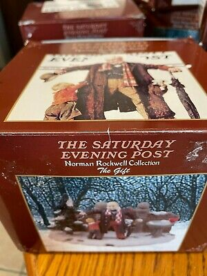 $ CDN6.38 • Buy  Rockwell Collection The Saturday Evening Post Figurine~ THE GIFT